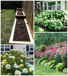 My top 3 budget picks for DIY outdoor projects to work on this summer: raised garden beds will be perfect next to the fence (hydrangeas & knockout roses are easy to grow & require little maintenance)