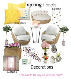 """""""Spring Floral Contest!"""" by ericjen8685 on Polyvore featuring interior, interiors, interior design, home, home decor, interior decorating, Nordstrom Rack, Nina Kullberg, Frontgate and Sunset West"""