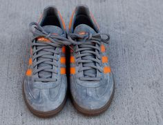 adidas Spezial Handball: Grey & Orange