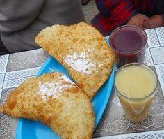 Recetas Bolivia : Pasteles de queso o empanadas de queso fritas para tomar con Api