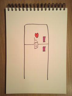 Señora: (A su marido) Haz que todo quede escrito, ponlo en el frigo y usa el magneto, amor.