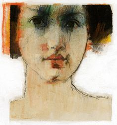 """Good"" by Derek Jones - acryl Abstract Portrait, Portrait Art, Figure Drawing, Painting & Drawing, Primitive Painting, Found Art, Expressive Art, Sketchbook Inspiration, Face Art"