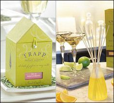 Picture of scented candles and reed diffusers