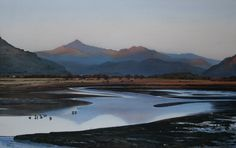 Snowdon from the Afon Glaslyn, Limited Edition Print (Giclee) from an original watercolour painting by Rob Piercy
