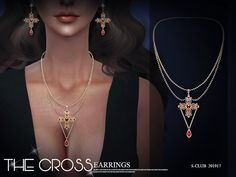 S-Club ts4 LL Necklace 201917 Sims 4 Cas, Sims Cc, Emerald Necklace, Emerald Jewelry, Sims 4 Piercings, Sims 4 Dresses, Sims 4 Mods Clothes, The Sims 4 Download, Sims 4 Cc Finds