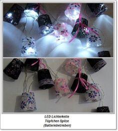 Lichterkette Hütchen Spitze    LED -Batterie von ღKreawusel-Designღ auf DaWanda.com