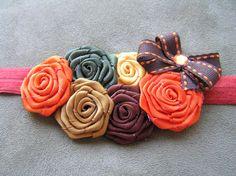 Halloween headband  fall color headband  baby by MamabearzBoutique, $14.99