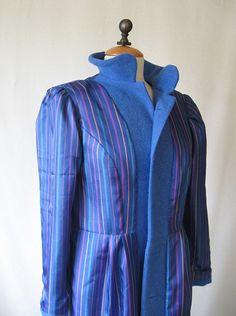 blue striped lining