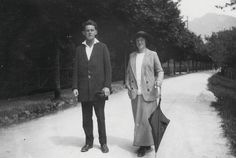 Egon Schiele and Wally Neuzil in Gmunden, July 1913  from the photo album of Arthur Roessler  Leopold Museum, Vienna, Austria