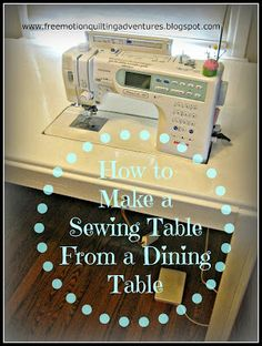 Tips for free motion quilting on a sewing machine; including ruler work: using rulers to guide free motion quilting, doodle quilting, & quilt design. Sewing Spaces, My Sewing Room, Sewing Rooms, Diy Sewing Table, Sewing Machine Tables, Sewing Machines, Sewing Machine For Quilting, Coin Couture, Sewing Cabinet