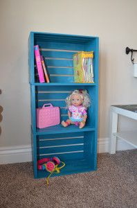 Make a Bookcase for under $30! 3 Easy Steps… 1. JoAnn Fabric sells crates that are unfinished for 13.99. You will need 3 (you could do 4 to make it taller, depending on your purpose). JoAnn Fabric also offers a 40% off coupon for one item per visit (I found …