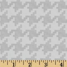 Michael Miller Everyday Houndstooth Cloud from @fabricdotcom  From Michael Miller, this cotton print is perfect for quilting, apparel and home decor accents.  Colors include white and very light grey.