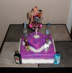 drunk barbie Funny Birthday Cakes, 21st Birthday, Barbie Funny, Birthday Candles, Party, Desserts, Tailgate Desserts, Deserts, Parties