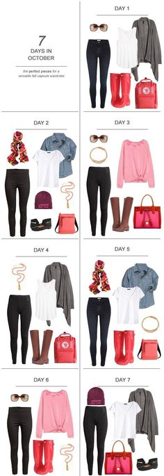 7 Days in November : The Perfect Pieces for a Versatile Fall Capsule Wardrobe Kiss My Tulle : 7 Days in November : The Perfect Pieces for a Versatile Fall Capsule Wardrobe capsulewardrobe ootd travel sahm fashion packing fall Days November Perfect Mom Outfits, Fall Outfits, Cute Outfits, Fashion Outfits, Womens Fashion, Fashion Capsule, Mom Fashion, Style Fashion, Capsule Wardrobe Mom