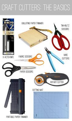 Talk about basic craft cutters from  lemonjitters.blogspot.com