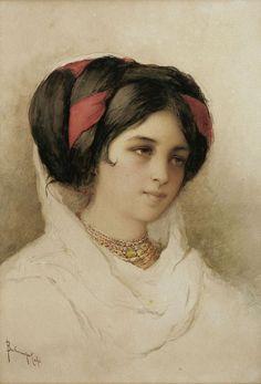 Folk Costume, Costumes, Greek Beauty, Corfu Greece, Beautiful Paintings, Traditional Outfits, Mona Lisa, Victorian, Portrait