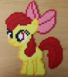 sandylandya@outlook.es  MLP - Applebloom Hama Bead Sprite by strepie93 on deviantART
