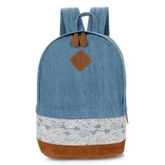 Floral Lace Canvas Backpacks - Meteora Shop