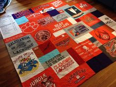 Custom order for Brittany custom tshirt quilts - For a Clemson grad for Christmas!