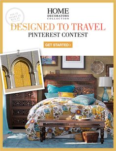 CONTEST HAS ENDED. Design a Pinterest board inspired by your favorite place for your chance to win a $2000 HDC GIFT CARD and be seen in the pages of our catalog & blog. Enter here: http://homedecorators.com/pinterest/