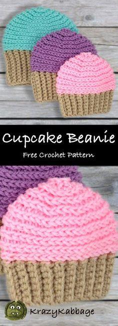 Mesmerizing Crochet an Amigurumi Rabbit Ideas. Lovely Crochet an Amigurumi Rabbit Ideas. Crochet Kids Hats, Crochet Mittens, Crochet Stitches, Crochet Ideas, Baby Mittens, Crochet Cupcake Hat, Baby Cupcake, Crochet Projects, Crocheted Hats