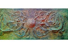Mural sculpture ,  fish