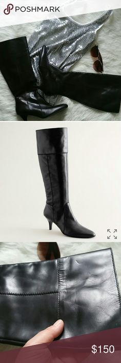 e19fced994e J. Crew black whitby kitten heel boots NWOT. These are beautiful inside and  out