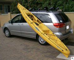 Kayak Storage Truck Loading and Unloading your Kayak. Canoe Boat, Canoe And Kayak, Fishing 101, Kayak Fishing, Kayaks, Kayak Transport, Kayak Storage Rack, Storage Cart, Kayak Equipment
