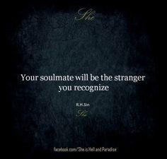 "It's no secret that ""soulmates"" isn't a common word I use but this was absolutely true for me when I met my husband."