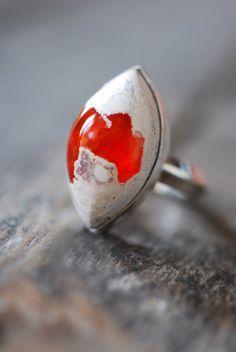 dollybirddesign fire opale ring