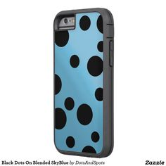 Black Dots On Blended SkyBlue Tough Xtreme iPhone 6 Case