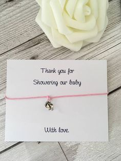 Baby shower favours, thank you for coming to my baby shower, wish bracelets, baby shower gifts, party favours, baby shower, pink and blue.
