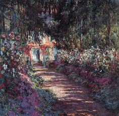 Claude Monet, the garden in flower. Art-and-Supplies.com