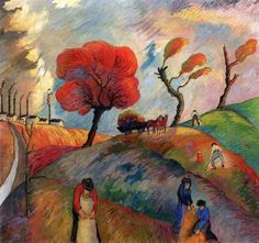 Ameisenhaufen (ant hill). Marianne von Werefkin. c.1916.