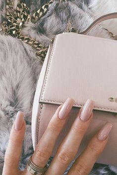 Coffin nails <3 Neutral Inspo' #PoshSquareStyle