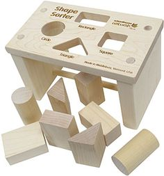 Maple Landmark Shape Sorter Bench