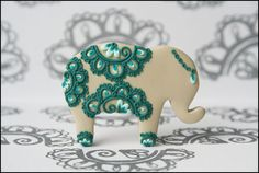 Really cute elephant broach (not a cookie upon first impression!)