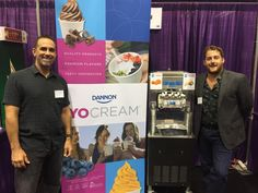 Another successful event!  Slices Concession West's very own, Evan Waldt & our partner Jason R. from YoCream (a Dannon company) teamed up to share great products, machines, and service at F.S.A. (Food Service America) food show in Seattle, Washington.