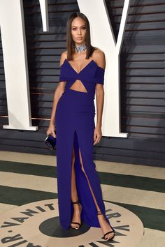 Joan Smalls in Brandon Maxwell - 2017 Vanity Fair Oscars after party