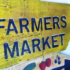 Distressed Sign Hand Painted Farmers Market by garavan on Etsy, $58.99