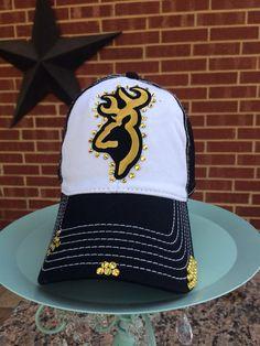 Browning Deer Distressed Baseball Style Hat EXTRA Bling on Etsy, $40.00