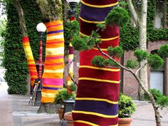 Pioneer square yarn bomb!