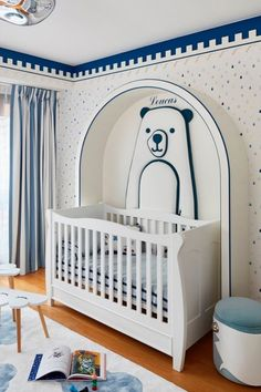 Find this adorable nursery room project in white and blue . . . . . #circumagicalfurniture #kidsfurniture #kidsroom #kidsinterior #whitedecor #whitedecoration #whitedeco