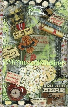 Altered Journal pages by Becky Loyall