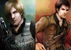 RE: Damnation - Leon and Buddy by WinglyC on DeviantArt Resident Evil Damnation, Resident Evil Anime, Jak & Daxter, Leon S Kennedy, Evil Art, Comic, Chibi, Fan Art, Deviantart