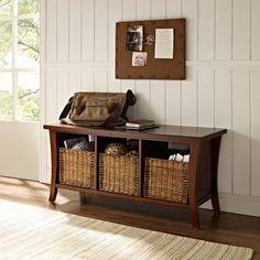 Скамья Уоллис Entryway хранения традиционные спальней-скамейки