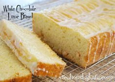White Chocolate Lime Bread. Yummy!