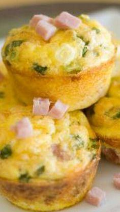 Egg Muffins: I used mushrooms and Canadian bacon instead, but they were really good.