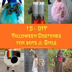 15+ DIY Halloween Costumes Ideas for Boys & Girls. Easy Halloween crafts/art with tutorial,  video and activity.