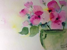 Aquarell Blumen Blumenstrauß Blumen Natur 17
